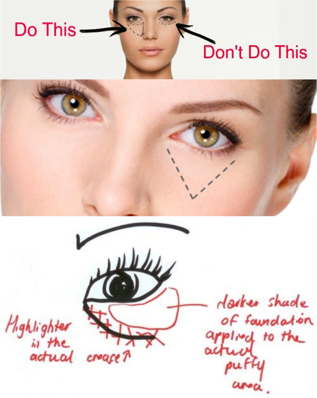 Makeup tips for bags under eyes